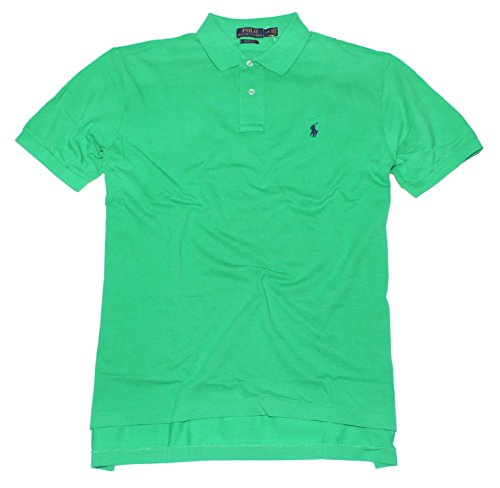 Polo Ralph Lauren Mens Polo Short Sleeve Classic Fit Shirt (Large, Stem Green)