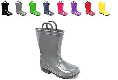 Amazon.com | Ska Doo Kids Toddler Rain Boots Assorted Colors | Boots