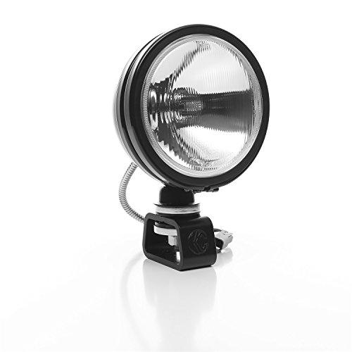KC Hilites 1234 Daylighter Spread Beam Halogen Light 6 in. Round Clear Lens Black Housing 100 Watts Each Daylighter Spread Beam Halogen Light