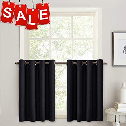 """PONY DANCE 36"""" Blackout Curtains - Kitchen Window Valances H"""