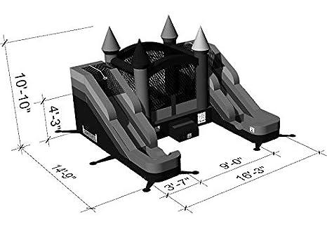 Amazon.com: Casa de rebote inflable y diapositiva de doble ...
