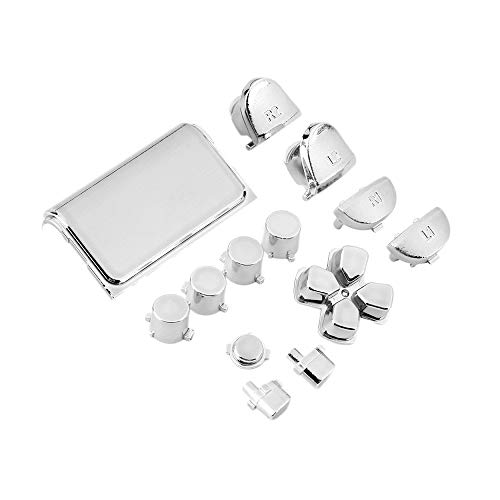 - Chrome Button Replacement Mod Game Kit for Playstation 4 PS4 Controller
