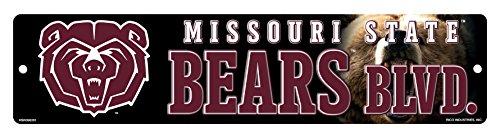 - NCAA Missouri State Bears 16-Inch Plastic Street Sign Décor