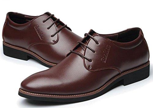 CSDM Scarpe Nuove Uomini Casual Scarpe Casual Scarpe Uomo Con Tacco Resistente Cuoio Respirabile Bottom , brown , 41