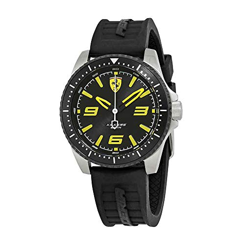 Ferrari Men's 'XX KERS' Quartz Stainless Steel and Silicone Casual Watch, Color:Black (Model: 0830487)