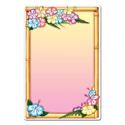 Beistle 54154 Luau Menu Board, 21-1/4 by 13-1/2-Inch -