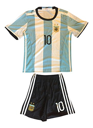 b9fed81ed 2016 Argentina Kids  10 Messi Soccer Jersey   Shorts Youth (Medium (ages  6-7))