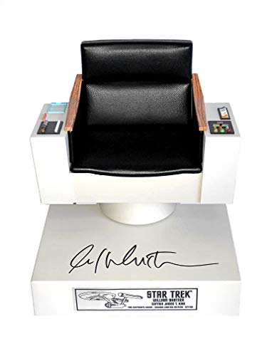 QMX Star Trek Captain's Chair FX Replica Signed By William Shatner Limited Edition of 150