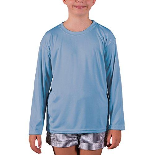 (Vapor Apparel Youth UPF 50+ UV Sun Protection Performance Long Sleeve T-Shirt Small Columbia Blue)