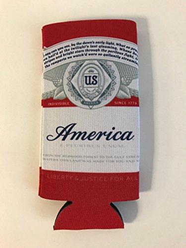 Budweiser America Logo 16oz Bottle Beer Can Cooler - 1 Pk