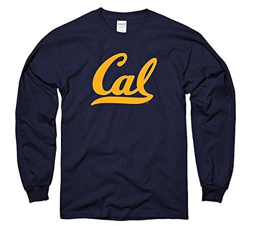 Men's UC Berkeley Golden Cal Long Sleeve T-Shirt S Navy