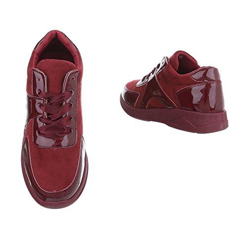 Bajas Bourgogne Plano Para design Mujer Ital Zapatos Zapatillas pROwI