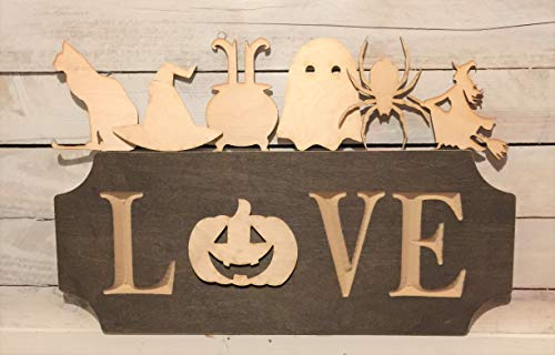 Paint Me Designs The Adjustable Love Sign Starter Set Halloween The Extended Version Scalloped Plaque -