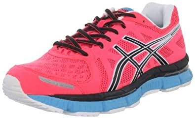 ASICS Women's Gel Neo33 Running Shoe,Electric Coral/Black/Neon Blue,6 M US
