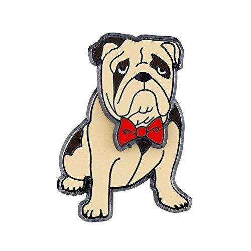 - Pin Pushers Bulldog Dog Enamel Lapel Pin Brooch