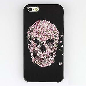 ZXM-Modelo del cráneo Faced plástico duro caso para iPhone 5/5S