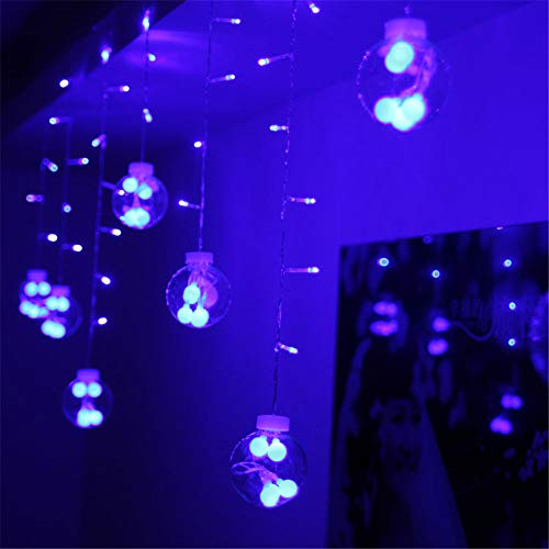 3M0.65M Fairy String Lights Wedding Curtain Home Outdoor Holiday Christmas Decorative String Curtain Garlands Strip Party Lights,Blue