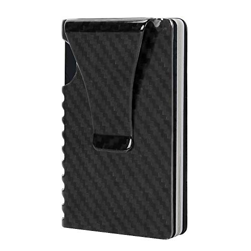 Money Clip, Slim Wallet-EGRD Carbon Fiber Front Pocket Minimalist Wallet For Men