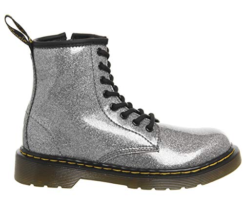 Dr. Martens Kid's Collection Girl's 1460 Patent Glitter Junior Delaney Boot (Little Kid/Big Kid) Gunmetal Coated Glitter 2 M UK for $<!--$62.95-->