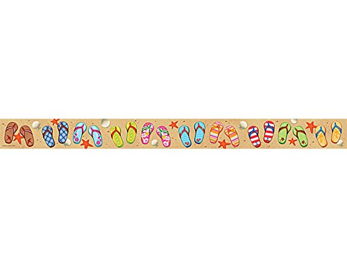 Teacher Created Resources Flip Flops Straight Border Trim (5648) -