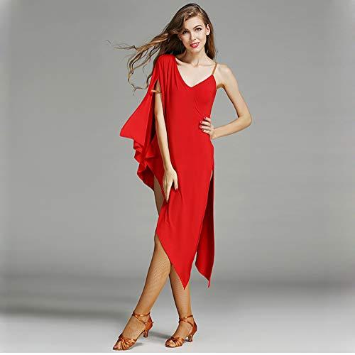 Elegante Abiti Esame Di Gonna Vestito Pipistrello Flessibile Latino Manica  amp r Donna Festa Red Dhtw ... 3e1d02b0fe3