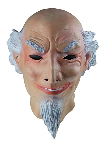 COMLZD® Realistic White Beard Old Man Latex Mask Fancy Halloween Party Costume Cosplay Scary (Realistic Old Man Halloween Masks)