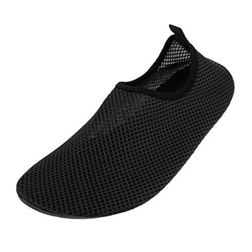 Baoblaze Women Men Water Sports Shoes Quick-Dry Mesh Aqua Socks for Kayak Scuba Diver Fitness Exercise Black 4YSZ9hAn