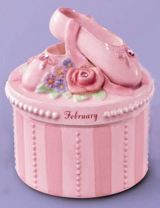 (A Time to Dance Classics February Ballerina Trinket Box by Russ)