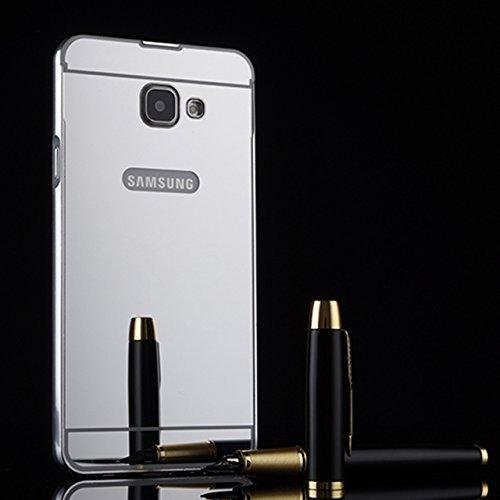 Samsung Galaxy J7 Prime Funda, Vandot Hybrid Diseño 3 en 1 Cáscara Dura de la PC Recubrimiento Metálico Marco Chapado Matte de Lujo Hard Caja de Telefono Duro Protección Cubierta Case Cover para Samsu Mirror Plata