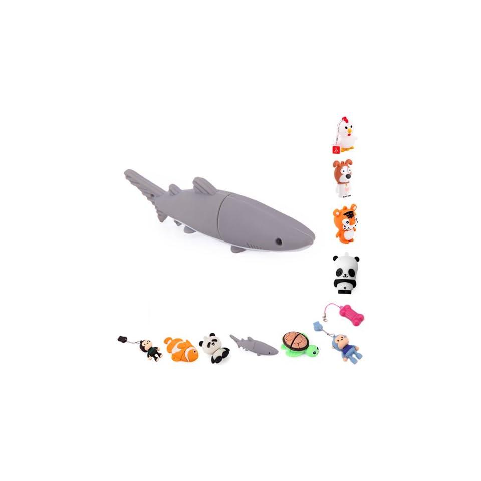 HDE Novelty Animal Shaped USB Flash Drive (8GB, Great White Shark)
