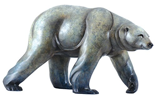 Northern Lights Gloss Large Polar Bear Sculpture by Stephen Herrero