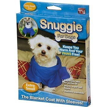 UPC 740275002070, Snuggie for Dogs Blue Colored Fleece Blanket Coat with Sleeves - Extra Small