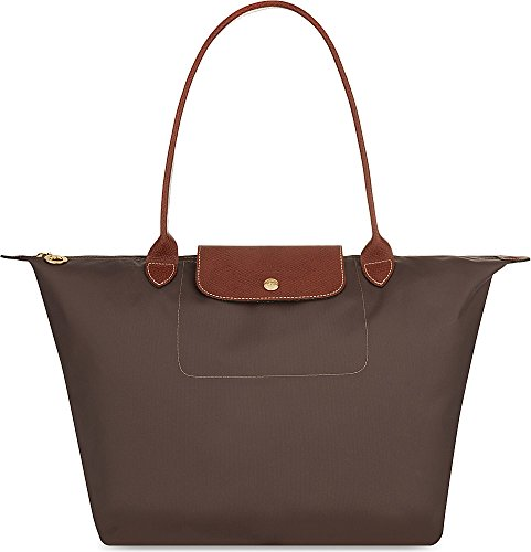 Longchamp Medium Le Pliage Shoulder Bag Terra Brown - Tote Embossed Longchamp
