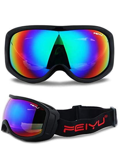 Whj Gafas de esquí de Doble Lente 180 ° Campo de visión Total Claro 100% Gafas de Sol Lente de Capa Protectora UV se Pueden sustituir con Soporte de Material Ligero por Whj