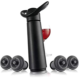 Vacu Vin Vacu vin inc wine saver concerto with 4 stoppers standard black, 1 Ounce