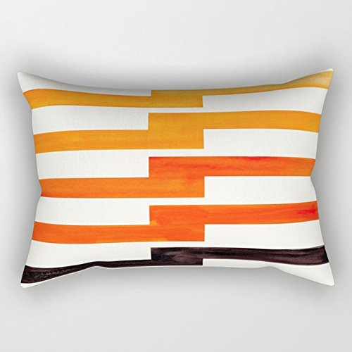 - Ashasds Orange Black Geometric Minimal Mid Century Modern Lightning Bolt Pattern Watercolor Art Throw Pillow Covers for Home Indoor Comfortable Cushion Rectanle Pillowcase Standard Size 12x20 in