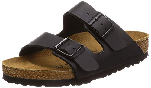 Birkenstock Women's Arizona  Birko-Flo Black Sandals - 39 M EU (Birkenstock Arizona 39)