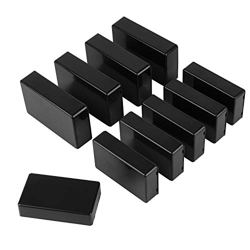 Gydandir 10 Pieces Plastic Waterproof Boxes Junction Case for Electronic Project 2 Sizes 100mm and 85mm(Black)