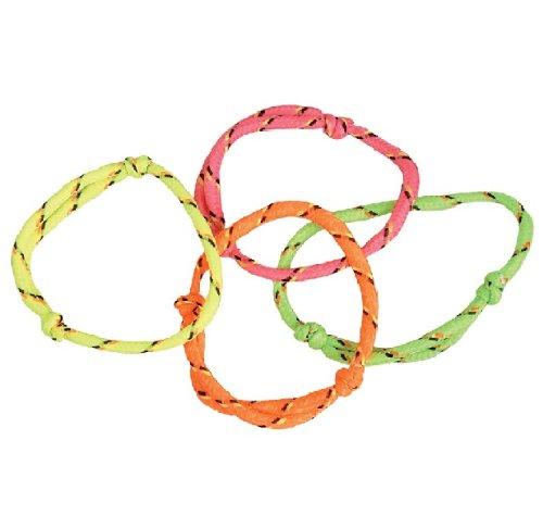 Nylon Friendship Rope Bracelets (144 (1 Gross) Neon Rope Friendship Bracelets)