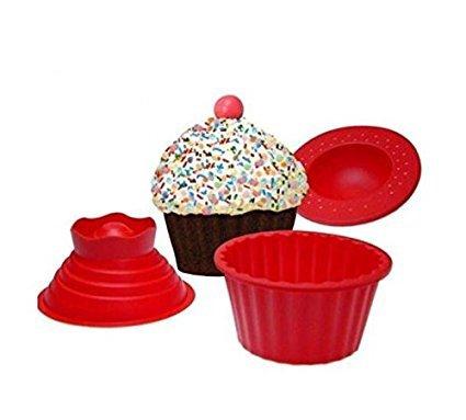 Hanperal 3 Pack Giant Big Silicone Cupcake Cake Mould Top Cupcake Bake Set Baking Mold Dx