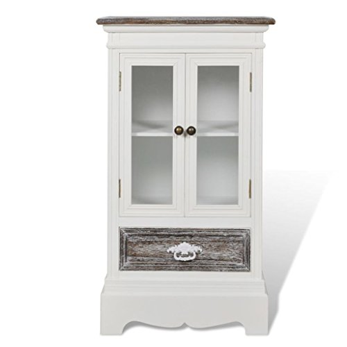 Antique Display Cabinet White Shabby Chic Cupboard Vintage Storage  Sideboard New