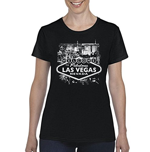 Artix A+ Welcome to Las Vegas Nevada Women T-Shirt Large Black