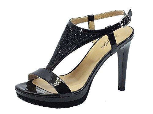 Nero Giardini P717872d Naplak Nero - Sandalias de vestir de Piel para mujer negro