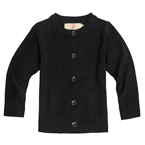 Baby Girls Cotton Knit Long Sleeve Button-Down Cardigan Sweater 6-7yrs AM2004-1 by GRACE KARIN