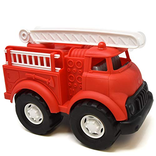 Number 1 in Gadgets Fire Truck Toy, Red Fire Engine for Toddlers, Boys and Girls, Large Plastic Firetruck Vehicle with Rescue Ladder for Indoor and Outdoor Play