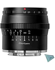 $112 » TTArtisan 50mm F1.2 APS-C Manual Focus Lens Compatible with Fuji X Mount Camera