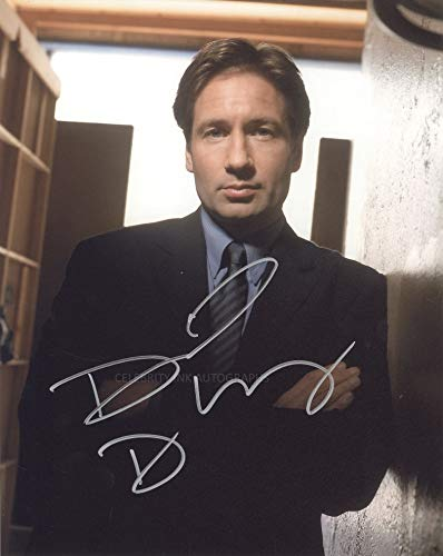 DAVID DUCHOVNY as Fox Mulder - The X-Files GENUINE AUTOGRAPH