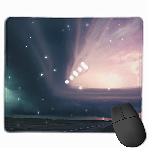 Atlas Case Travel (Computer Gaming Mouse Pad Cloud Pattern Laptop Pad Non-Slip Rubber Stitched Edges 11.8 X 9.8 Inch)
