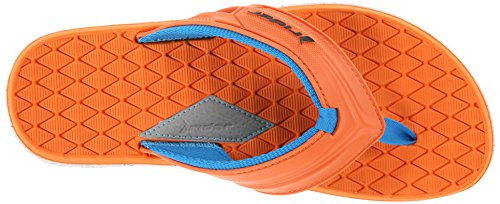 Rider Männer Next-81548 Thong Sandale Weiß / Orange / Blau