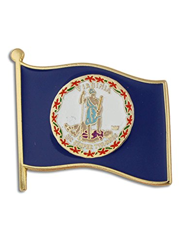 Virginia Flag Lapel Pin - PinMart Virginia US State Flag VA Enamel Lapel Pin 1